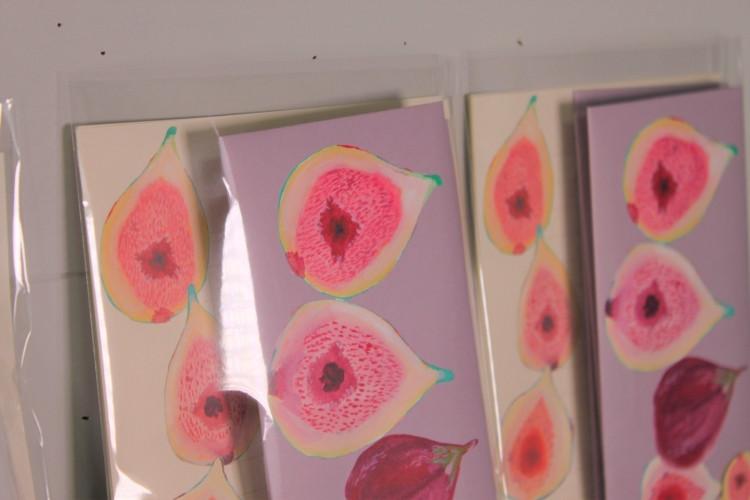 秋の新作のイチジクレターセット!築上町でも栽培が盛んな果物です