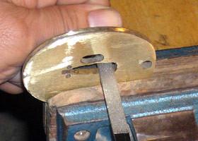 金具作り 鍔