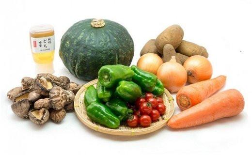 地元産のはちみつ、旬の野菜を新鮮なまま