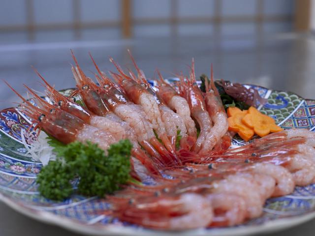 前浜産・朝獲れ・新鮮・急速冷凍です!お刺身にはやっぱり甘エビ!