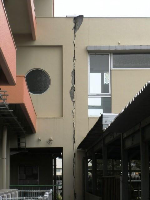 (熊本県上益城郡)御船町の被害状況 御船中学校