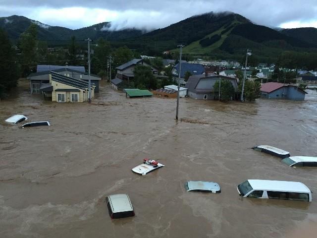 8月31日 空知川の堤防が決壊した南富良野町幾寅地区