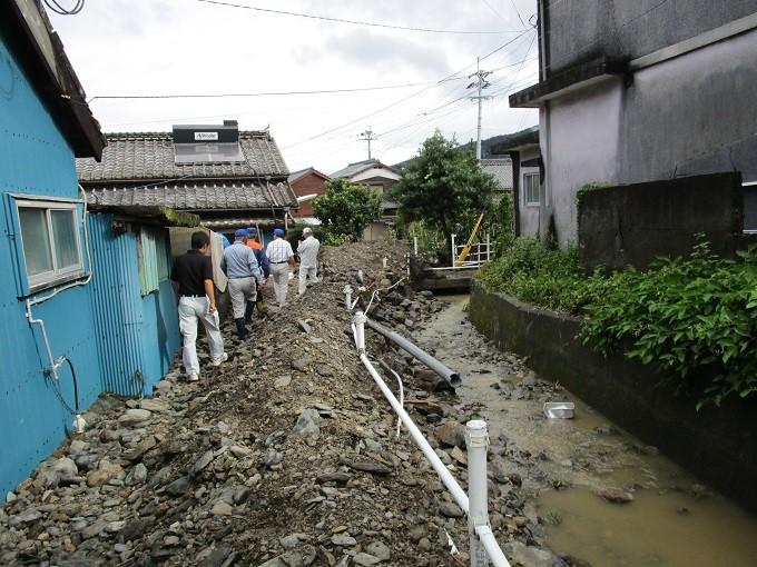 【蒲江地区】土砂災害の様子