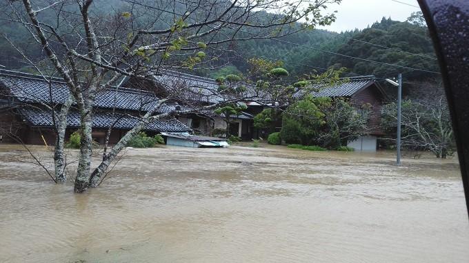 【堅田地区】家屋の浸水した様子
