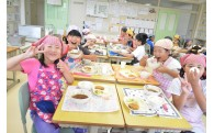 町産の食材を使用した給食の日