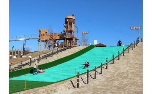 玖珂総合公園のソリゲレンデを整備しました!
