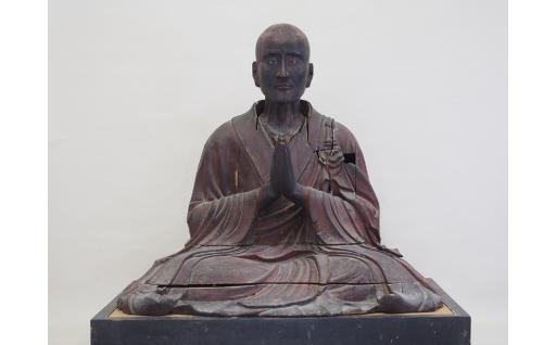 県指定文化財「南仏上人坐像」修理
