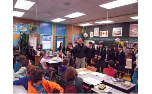 カナダの学生と交流を深め国際的な視野を広めました