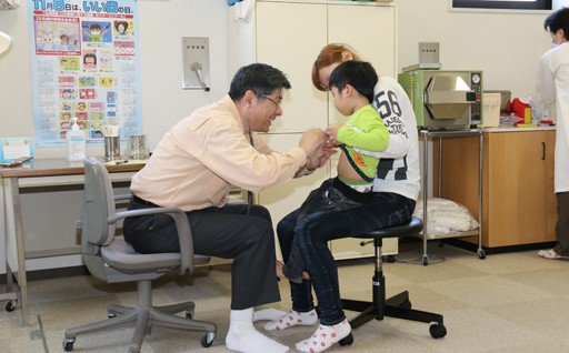 インフルエンザ予防接種に助成。