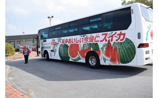 今帰仁村PRバスラッピング2号車が完成しました!