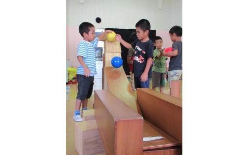 【幼稚園】積み木を購入致しました!