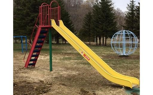 公園遊具の設置に活用しました
