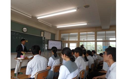郷土の先輩特別授業を開催しました