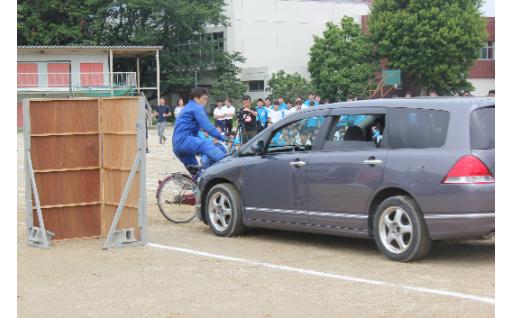 寄附の成果~自転車交通安全教室が実施~