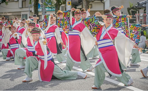 四万十町よさこい踊り子隊の活動資金への充当