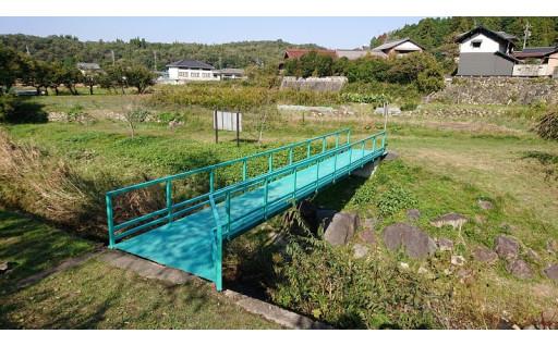 蛇ヶ洞川の人道橋を改修しました