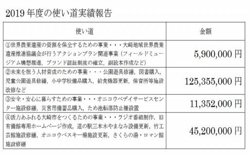 2019年の使い道実績報告