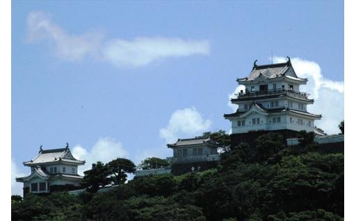 日本100名城である平戸城が宿泊施設になります