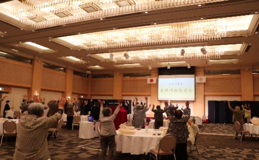 敬老会が行われ、米寿のお祝いを行いました!