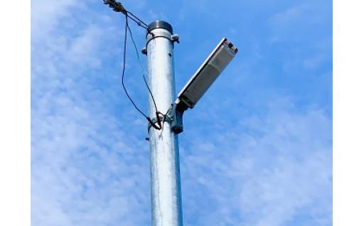 夜間の安心・安全の為、防犯灯を設置しました!