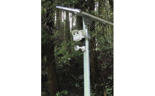 不法投棄の監視強化の為、監視カメラを設置しました