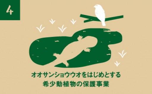 オオサンショウウオをはじめとする希少動植物の保護事業