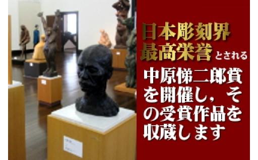 日本彫刻界最高栄誉とされる中原悌二郎賞を開催し、その受賞作品を収蔵します