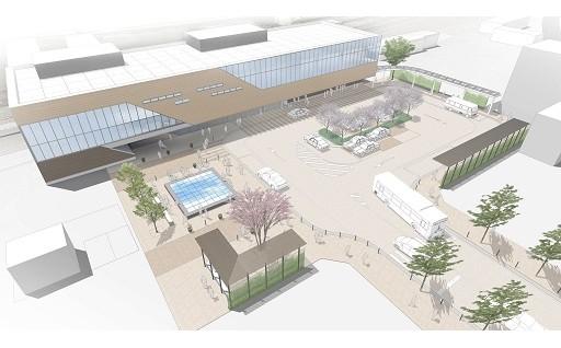 新図書館整備を含む石動駅周辺整備事業を支援