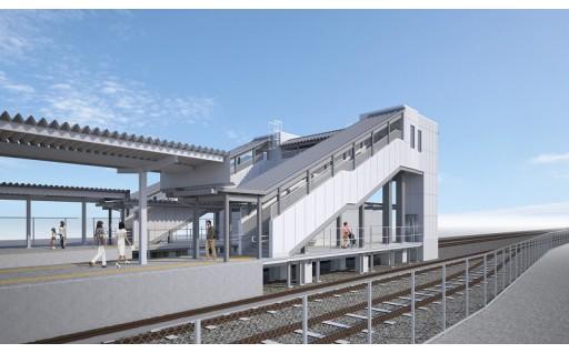1.JR飯田線 新城駅構内 バリアフリー化をするための事業